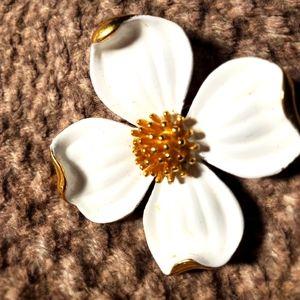 Trifari Flower Brooch